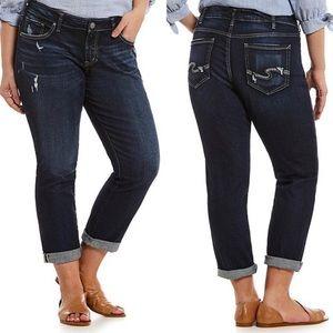 Silver Plus Sam Ankle Crop Boyfriend Jeans
